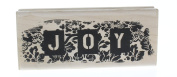 Stampington And Co Floral Joy Words Writing Wood Mount Rubber Stamp
