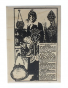 Stampington And Co Vintage Fashion Collage Accessories Wood Mount Rubber Stamp