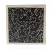 Stampington And Co Paisley Print Wallpaper Background Wood Mount Rubber Stamp