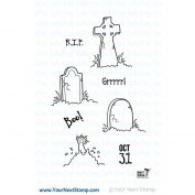 CLEAR STAMPS-GRAVEYARD