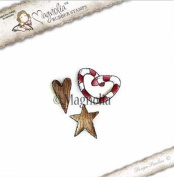 Magnolia Stamps Aspen Holidays - Wood Heart and Star Kit