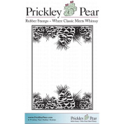 Prickley Pear Cling Stamps 8.3cm x 8.3cm -Pine Cones ATC