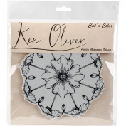 Ken Oliver Cut 'N Colour Cling Stamp-Poppy Mandala