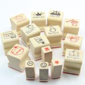 Wooden Teachers Encouragement Mark Stamp Seal