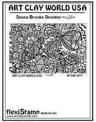 FlexiStamps Texture Sheet Shona Brooks In the City Positive Design - 1 pc.