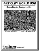 FlexiStamps Texture Sheet Shona Brooks Circles Inverse Design - 1 pc.