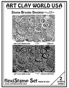 Flexistamps Texture Sheet Set Shona Brooks Circles Set (Including Commas and Commas Inverse)- 2 Pc.