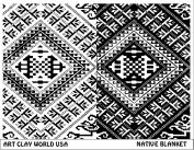 Art Clay World USA Low Relief Texture Plate Native Blanket Design - 1 Pc.