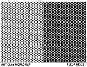 Art Clay World USA Low Relief Texture Plate Fleur De Lis Design - 1 Pc.