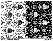 Art Clay World USA Low Relief Texture Plate Damask Design - 1 Pc.