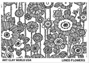 FlexiStamps Texture Sheet Lined Flowers Design - 1 pc.