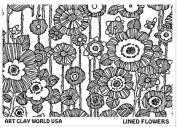 FlexiStamps Texture Sheet Lined Flowers Design - 1 pc.