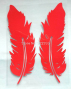 Treading(TM) 1PAGE/2PCS,14CM,Feather Reflective vinyl car sticker for car rearview mirror,any where,