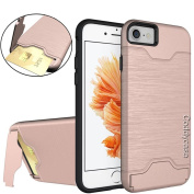 iPhone 7 Case,7 Case,iPhone 7 Cover,iPhone 7 Cases,Coddycase 2 in 1 Hybrid Hard Back Case Cover for iPhone 7#Rose Gold