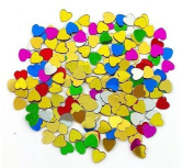 B & F 1200PCS 2D Nail Art Tips Rhinestones Heart Slices DIY Decoration Manicure CODE