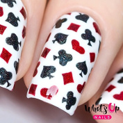Whats Up Nails - Playing Cards Nail Stencils Stickers Vinyls for Nail Art Design