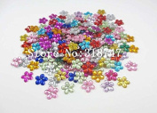 576pcs 8mm Mixed Colours Flower Design Acrylic Rhinestone flatback Gem