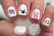400 Sports Soccer Child Size Nail Art Designs Decals