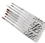 Andercala 8pcs Nail Art Design Painting Drawing Polish Brush Pen