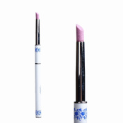 BTArtbox 1 Pcs Nail Art Pusher Pens Cuticle with Quartz Stone Head for Nail Dead Skin Removing Manicure Tools Blue and White Porcelain Metal Handle