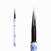 BTArtbox 1 Pcs Nail Art Drawing Brush Pen with Blue and White Porcelain Pattern Design Manicure Tools