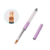 BQAN 1Pc UV Gel Nail Brush With Rhinestone Handle Nylon Hair Ombre Brush Pro Nail Art Tools