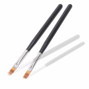 BQAN 1Pc UV Gel Nail Brush Black Wood Handle Nylon Hair Ombre Brush Pro Nail Art Tools