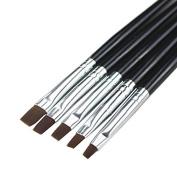 Aababuy 5pcs Nail Art Design Brush Set Phototherapy Pen