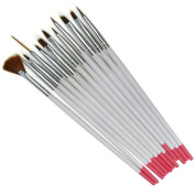 Aababuy 1*set 12pcs Pro Nail Art Design Brush Painting Set