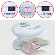 Elite99 White Nail Lamp,Warm or Cool Wind Nail Dryer Fan,Infrared Auto Sensor Professional Curing UV Gel Polish Machine,Could Use Both Hands Salon Manicure Tool