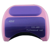 RioRand 48W Nail Polish Gel Art Tools Professional CCFL LED Uv Lamp Light 110-220v Nail Dryer Therapy Automatic Induction 10s 20s 30s Timer - Purple