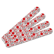 Double-Sided Nail File Emery Board Set 4 Pack - Holiday Christmas New Years - Naughty or Nice Funny