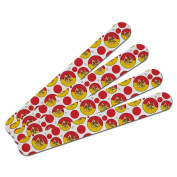 Double-Sided Nail File Emery Board Set 4 Pack - Country National Flag O-S - Sicily National Country Flag