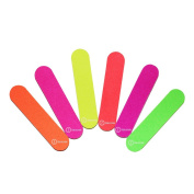 ZCollection TM (1 DOZEN) Colourful Neon Girly Mini Emery Board Nail Files
