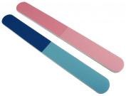 Premium Pink/Blue 4-Way Nail buffer 12 Pack by Nail File Guru