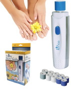PedEgg Bare Nails Electronic Nail Care System - Deluxe Gift Box w/ 10 Rollers - Buff & Shine Nails