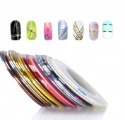 Andercala 32 Mixed Colour Rolls Striping Tape Line Nail Art Decoration Sticker