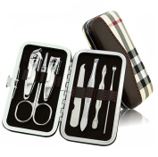 Andercala Stainless Steel Manicure & Pedicure Set Nail Clippers Set Grooming & Travel Kit