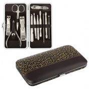 AGM 12PCS Nail Care Personal Manicure Pedicure Set Travel Grooming Kit