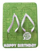 Hallmark Quip Flip Flop Happy Birthday Sandals Large Size 10-11