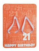 Hallmark Women's Small Happy 21st Birthday Quip Flops - Size 6/7