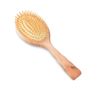 Rosette Hair Air cushion Wooden Massage Comb Detangling Hair Brush For All Hair Types, Natural Wood Bristles Pin, Anti Static, Prevent Hair Loss
