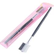 Buytra Eyelash Comb Double Ended Angled Eyebrow Brush