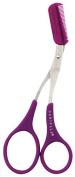Danielle Enterprises Soft Touch Eyebrow Comb Grooming Scissors, Purple