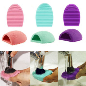 U Choicetore Silicone Cosmetic Makeup Brush Finger Glove Hand Cleaning Tools Foundation Brush Cleaner Tool