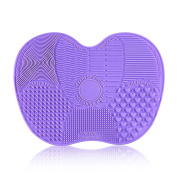 INHDBOX Silicone Makeup Brush Cleaning Pads,Cleaners Mat Board Suitable For Any Size Makeup Brushes 14*16cm
