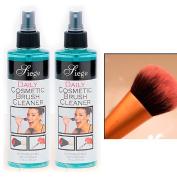 2 Bottles Cosmetic Brush Spray Cleaner Make Up Disinfectant 240ml Liquid Cleanser