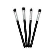 Royal Care Cosmetics 4 Piece Silver Face Synthetic Brush Set