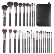 S.O.S By DOCOLOR 29Pcs Professional Makeup Brushes Set Goat Hair Foundation Eyeshadow Kits with PU Leather Makeup Case