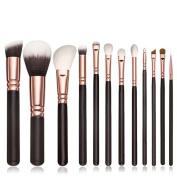 12 PCS Makeup Brushes, Cosmetic Set Eyeshadow Brush Blusher Cosmetic Tools / home users / professionals / Powder Brush / Foundation Brush / Eyeshadow Brush / Lip Brush / Eye Liner Brush